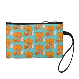 Frenchie in costume for Halloween party Coin Wallet