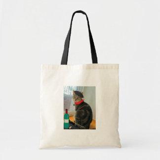 Frenchie Indigo Tote Bag