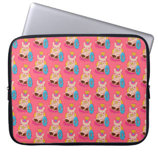 Frenchie is The King of Doughnuts Laptop Computer Sleeve