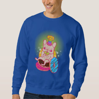 Frenchie is The King of Doughnuts Sweatshirt