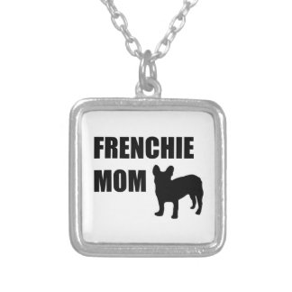 Frenchie Mom Silver Plated Necklace