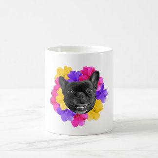 Frenchie Pansies Mug