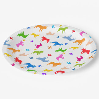 Frenchie Paper Plates