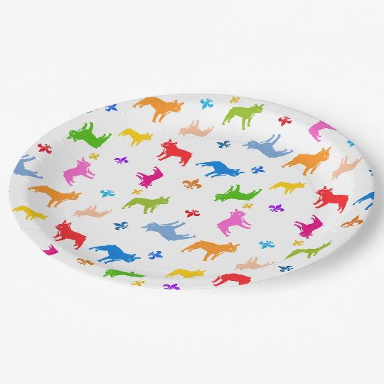 Frenchie Paper Plates 9 Inch Paper Plate