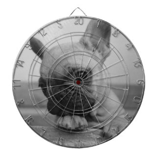 Frenchie puppy dartboard