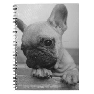 Frenchie puppy spiral notebook
