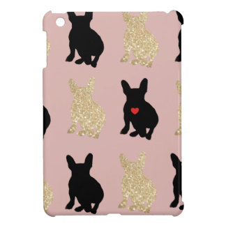 Frenchie Silhouette Pattern Case For The iPad Mini