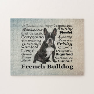 Frenchie Traits Jigsaw Puzzle