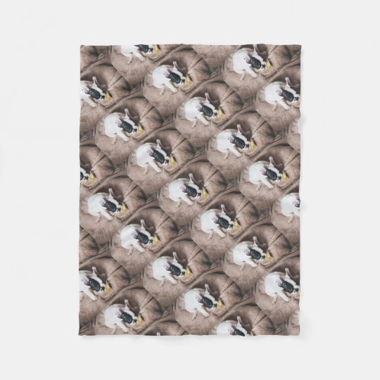 Frenchie With a Gift Fleece Blanket