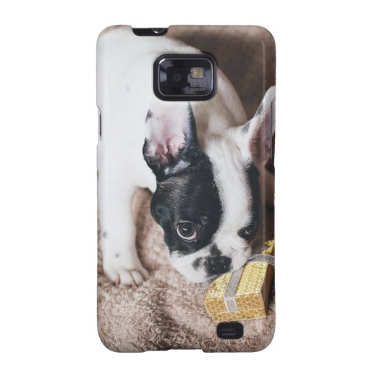 Frenchie With a Gift Galaxy S2 Case
