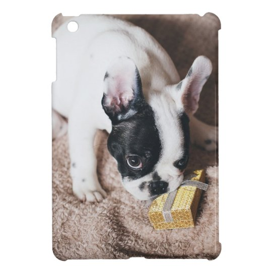 Frenchie With a Gift iPad Mini Cover