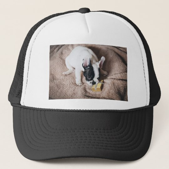 Frenchie With a Gift Trucker Hat