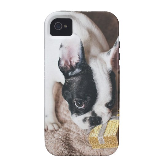 Frenchie With a Gift Vibe iPhone 4 Case
