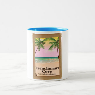 Frenchman's Cove Port Antonio, Jamaica Two-Tone Coffee Mug