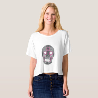 Frenchy Candy Skull by Jampino T-shirt