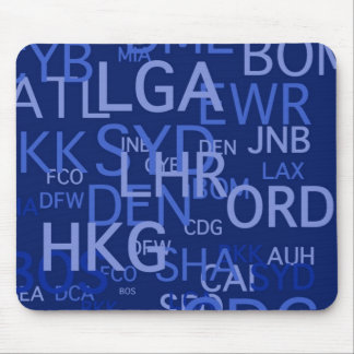 Frequent Flyer Airport Codes Mouse Pad