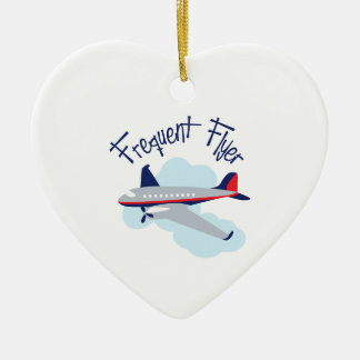 Frequent Flyer Ceramic Ornament