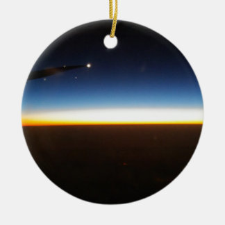 Frequent Flyer Horizontal Ceramic Ornament