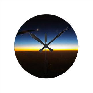 Frequent Flyer Horizontal Round Clock
