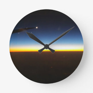Frequent Flyer Horizontal Round Clock