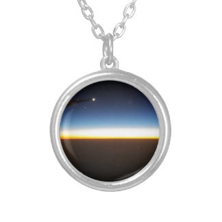 Frequent Flyer Horizontal Silver Plated Necklace