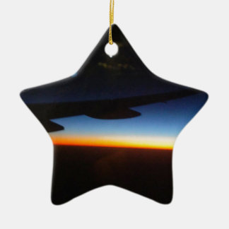 Frequent Flyer Vertical Ceramic Ornament