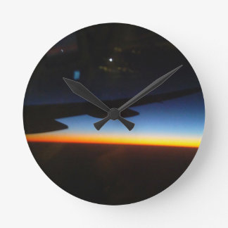 Frequent Flyer Vertical Round Clock