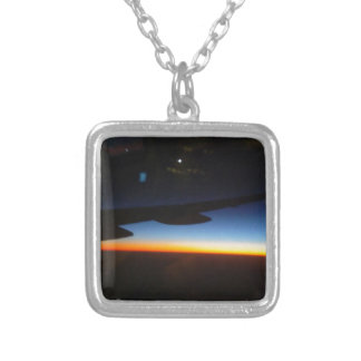Frequent Flyer Vertical Silver Plated Necklace