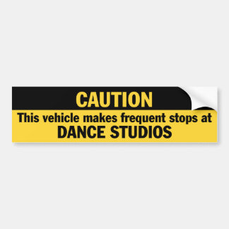 Frequent Stops (Dance) Bumper Sticker