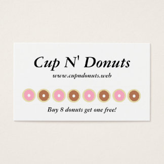 """Frequent Visitor"" (8 Donuts) Loyalty Cards"
