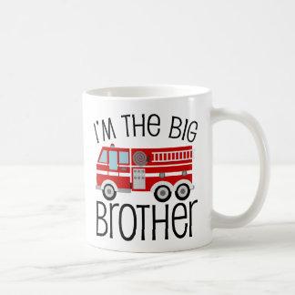 Frère de camion de pompiers rouge mug blanc
