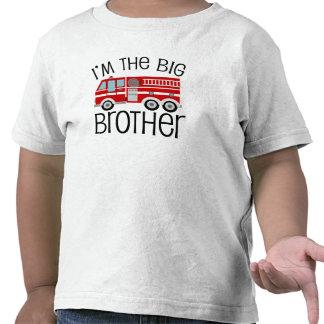 Frère de camion de pompiers rouge t-shirt