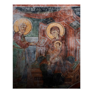 Frescoes from the 14th Century Serbian Church, 2 Poster