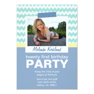 Fresh 21st Birthday Party Invitations