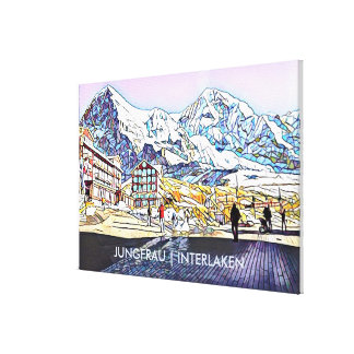 Fresh Altitude  - Swiss Alps Canvas Print