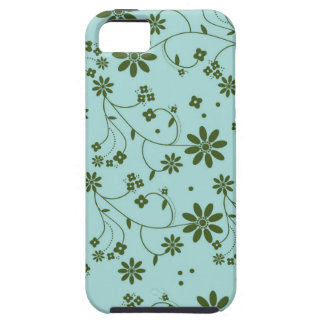 Fresh and Fancy Floral - Blue (2) Case For The iPhone 5