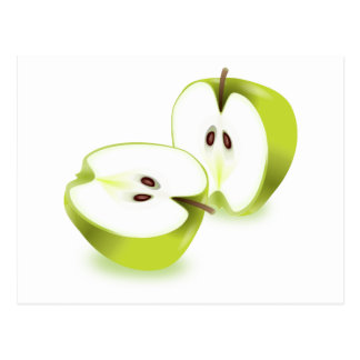 Fresh apple. postcard