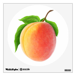 Fresh apricot wall decal