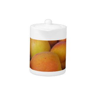 Fresh apricots in a wicker basket