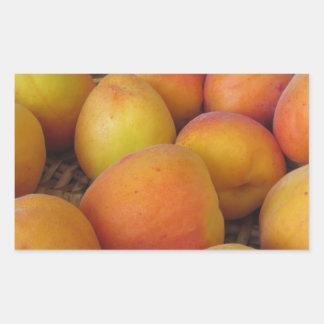 Fresh apricots in a wicker basket sticker