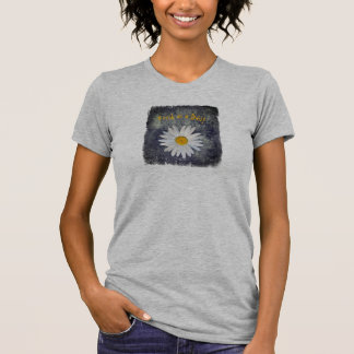 Fresh as a Daisy on Black and White texture T-Shirt