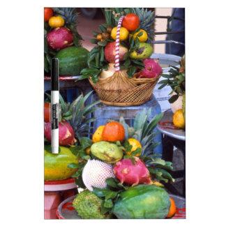 Fresh Asian Fruits Dry Erase Board