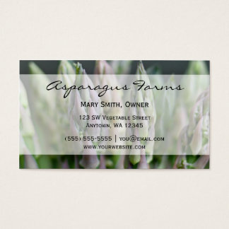 Fresh Asparagus Business Card