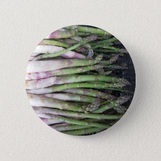 Fresh asparagus hand picked from the garden 2 inch round button