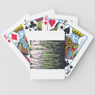 Fresh asparagus hand picked from the garden bicycle playing cards