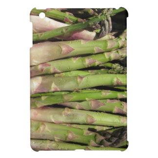 Fresh asparagus hand picked from the garden cover for the iPad mini