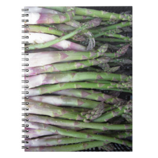 Fresh asparagus hand picked from the garden notebooks