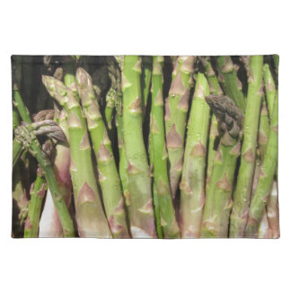 Fresh asparagus hand picked from the garden placemat