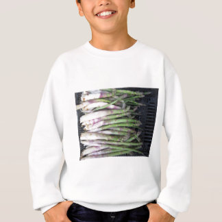 Fresh asparagus hand picked from the garden sweatshirt