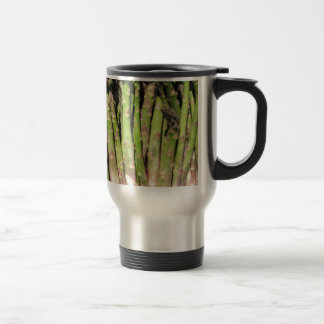 Fresh asparagus hand picked from the garden travel mug